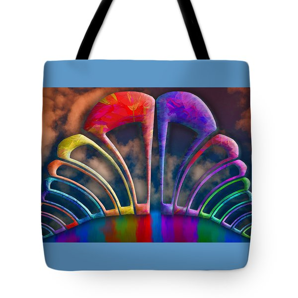 Rainbow Hill Tote Bag by Paul Wear