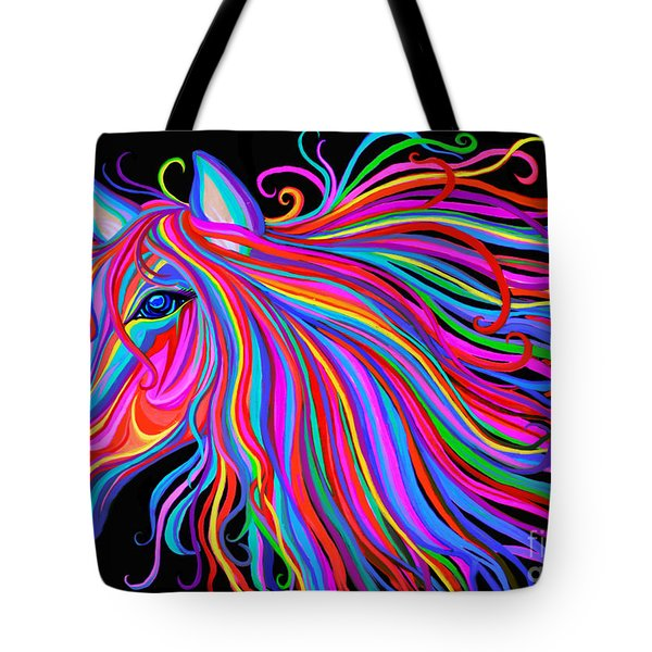 Rainbow Horse  Tote Bag