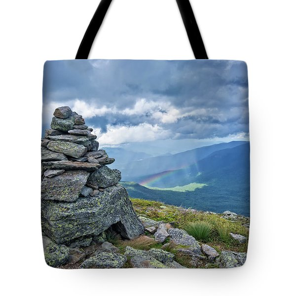 Rainbow In The Mist Nh Tote Bag