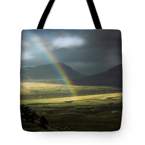 Tote Bag featuring the photograph Rainbow In The Valley by Andrew Matwijec