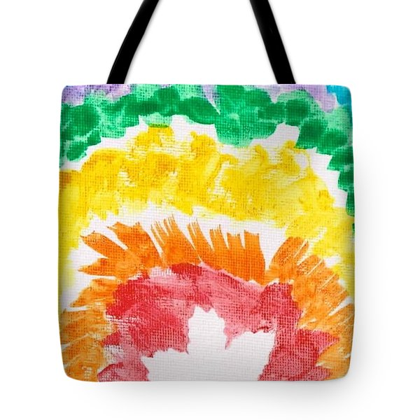Tote Bag featuring the painting Rainbow Leaf by Artists With Autism Inc