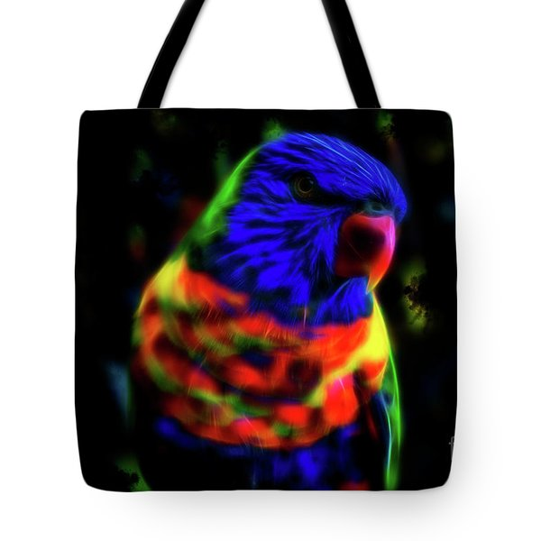 Rainbow Lorikeet - Fractal Tote Bag