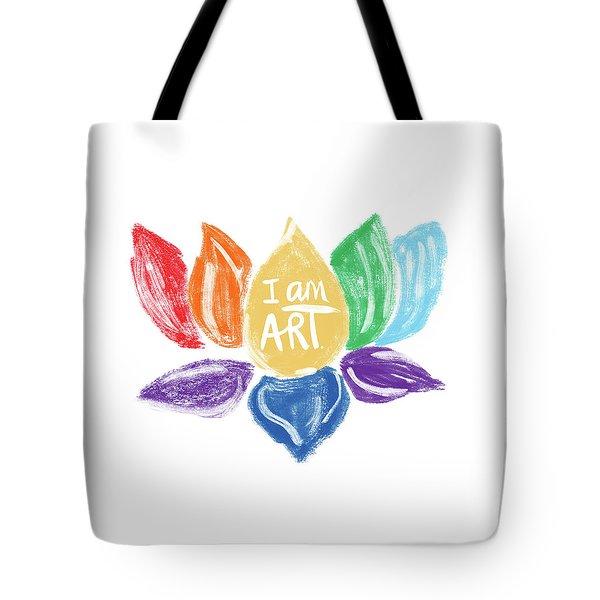 Rainbow Lotus I Am Art- Art By Linda Woods Tote Bag