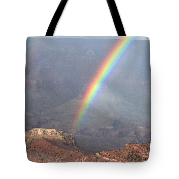 Rainbow Meets Mather Point Tote Bag