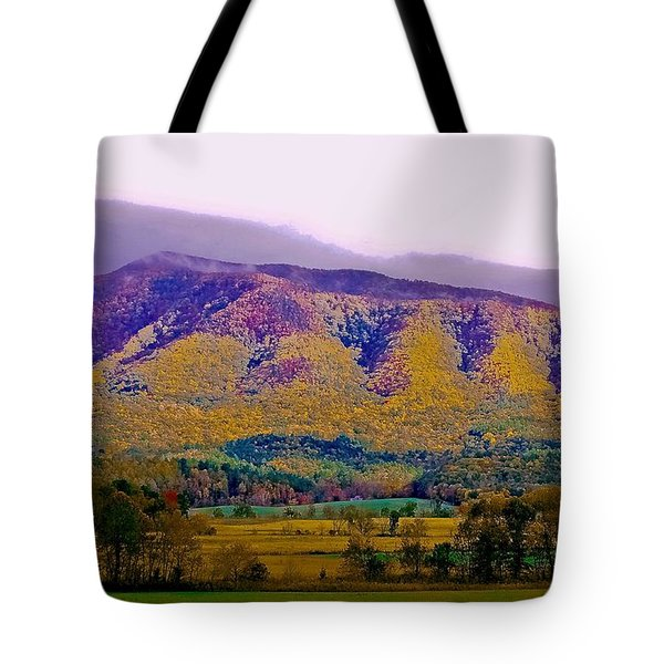 Rainbow Mountain Tote Bag by DigiArt Diaries by Vicky B Fuller