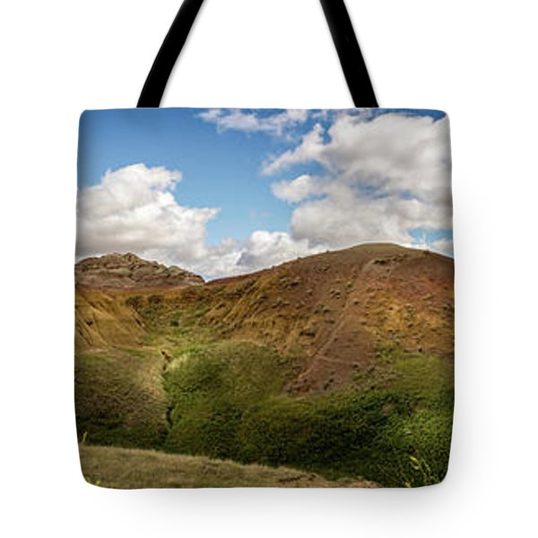 Rainbow Mountain Tote Bag