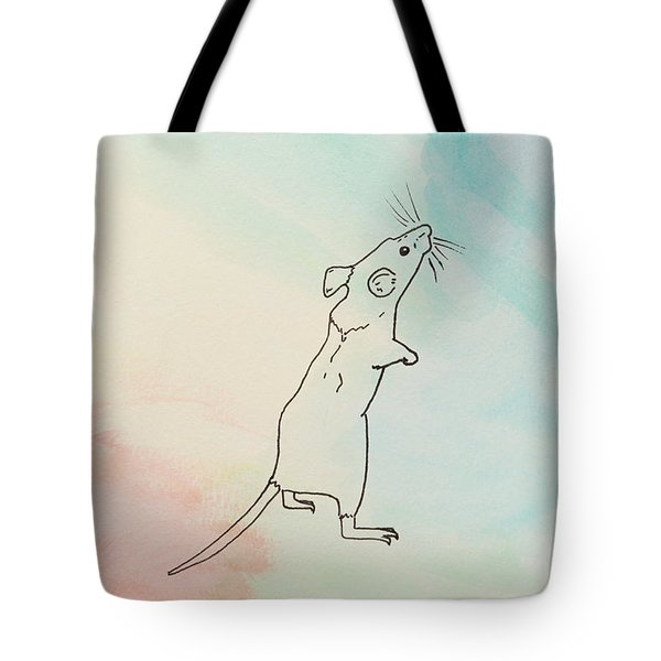 Rainbow Mouse Tote Bag by Stefanie Forck