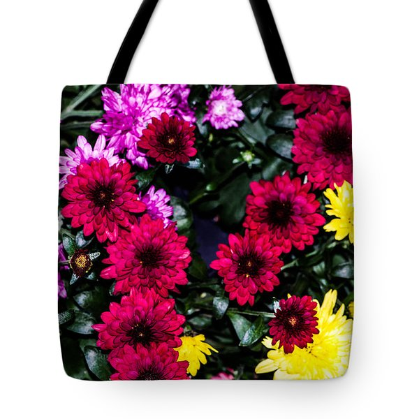 Rainbow Of Color Flowers Tote Bag