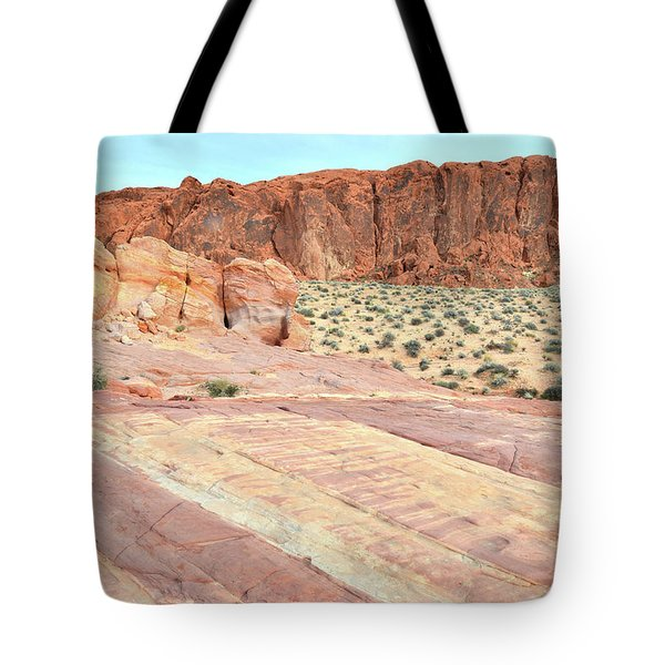 Tote Bag featuring the photograph Rainbow Of Color In Valley Of Fire by Ray Mathis