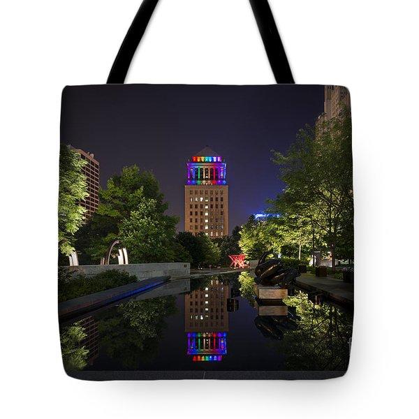 Rainbow Lights Tote Bag