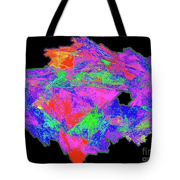 Tote Bag featuring the painting Rainbow Of Colors - Modern/contemporary Painting by Merton Allen