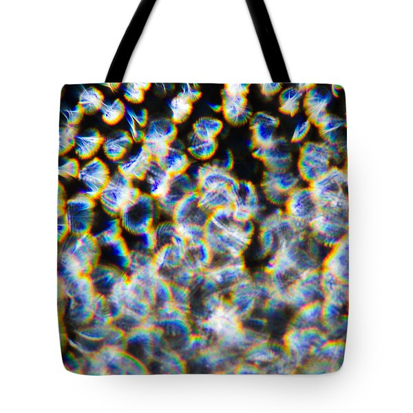 Tote Bag featuring the photograph Rainbow Ostracod by Greg Collins