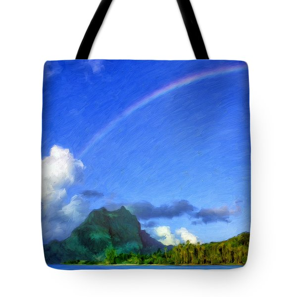 Rainbow Over Bora Bora Tote Bag