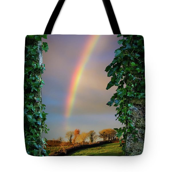 Tote Bag featuring the photograph Rainbow Over County Clare, Ireland, by James Truett