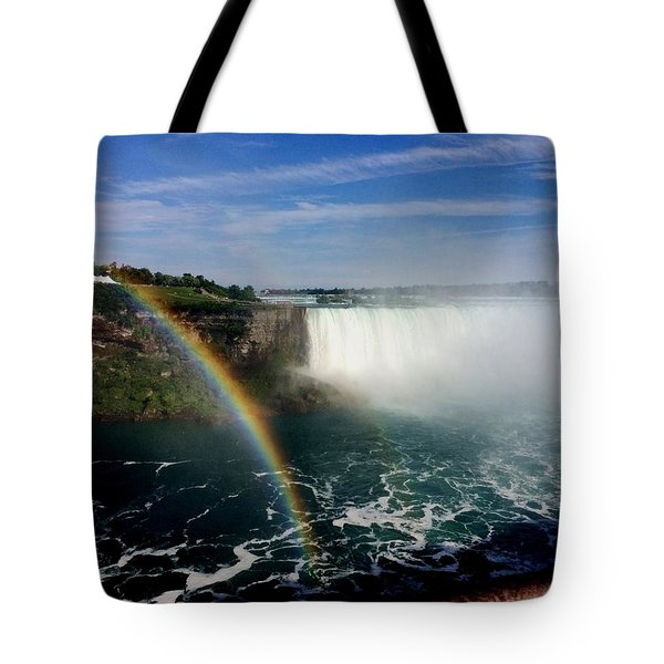 Rainbow Over Horseshoe Falls Tote Bag