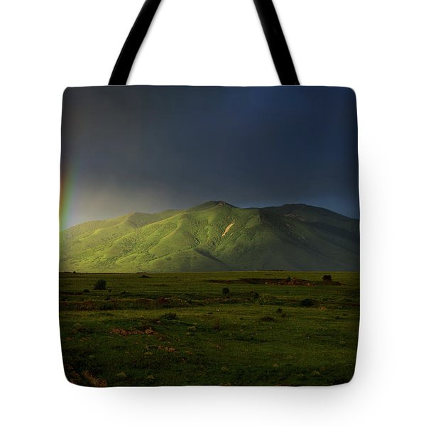 Rainbow Over Mount Ara After Storm, Armenia Tote Bag