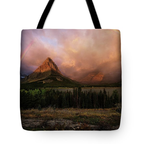 Rainbow Over Mt Gould Tote Bag
