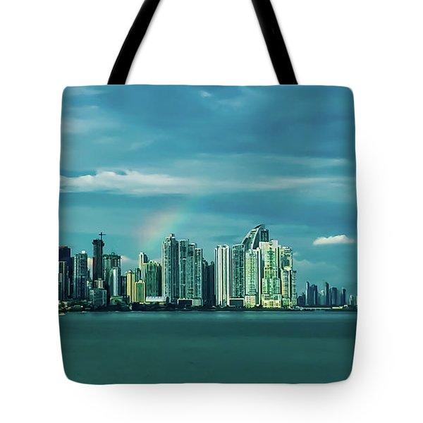 Rainbow Over Panama City Tote Bag