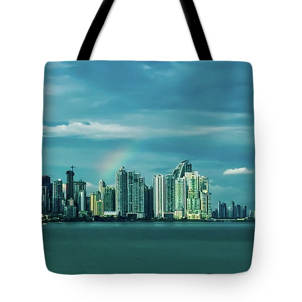 Rainbow Over Panama City Tote Bag