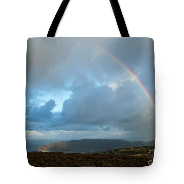 Rainbow Over Porlock Hill Tote Bag