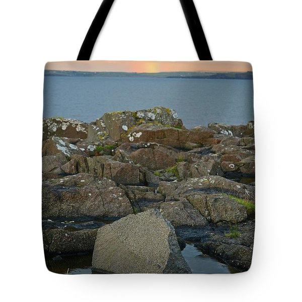 Rainbow Over The Rocks Tote Bag