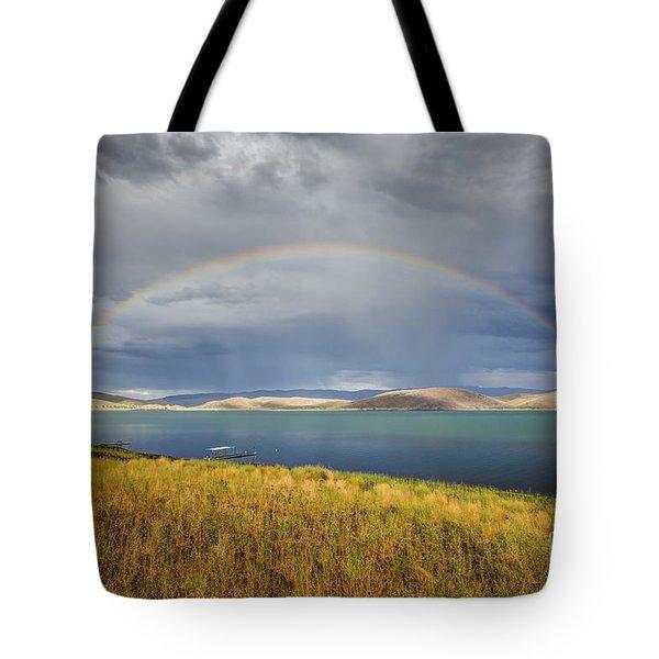 Rainbow Over Topaz Lake Tote Bag