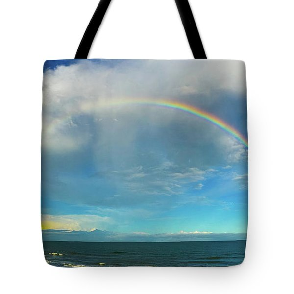 Rainbow Over Topsail Island Tote Bag by John Pagliuca