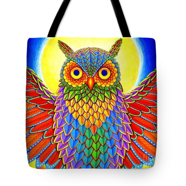 Rainbow Owl Tote Bag