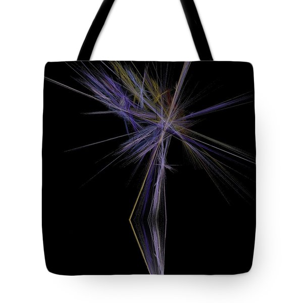 Tote Bag featuring the digital art Rainbow Palm by Sara  Raber