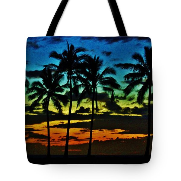 Tote Bag featuring the photograph Rainbow Palms by Craig Wood