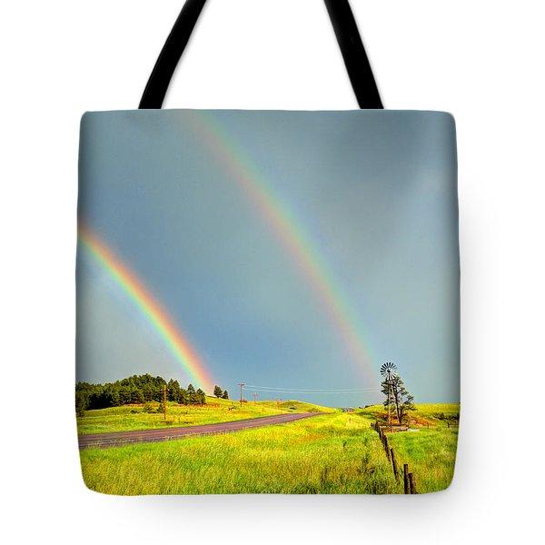 Rainbow Pass Tote Bag