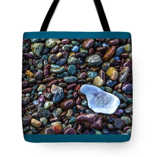 Rainbow Pebbles Tote Bag