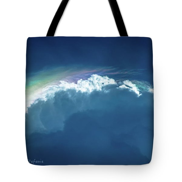 Rainbow Peeking Tote Bag by Stefanie Silva