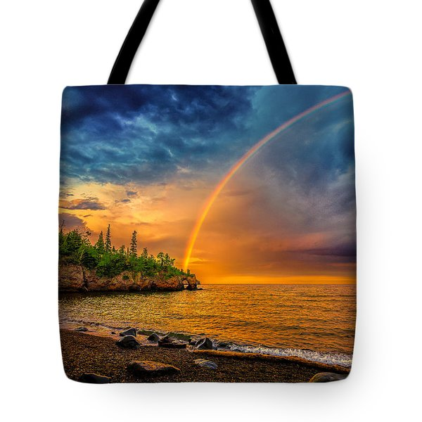Rainbow Point Tote Bag