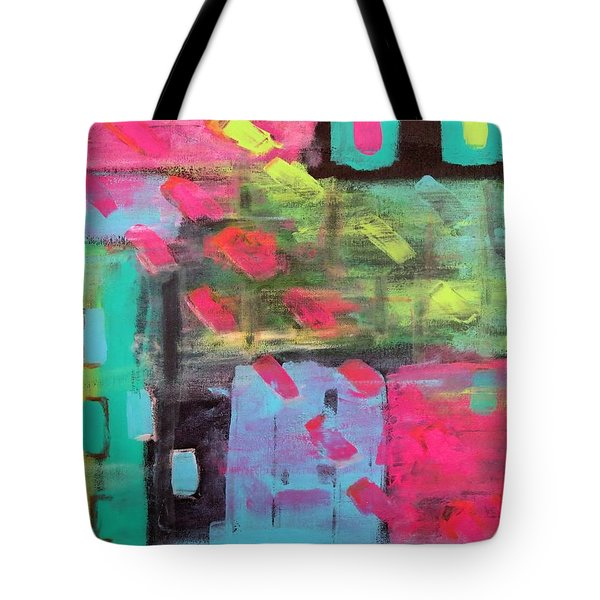 Rainbow Rain Tote Bag