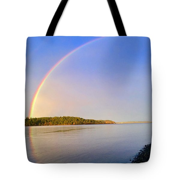 Rainbow Reflection Tote Bag