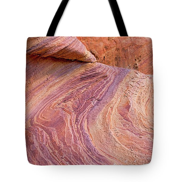 Rainbow Rocks Near Fire Canyon Tote Bag