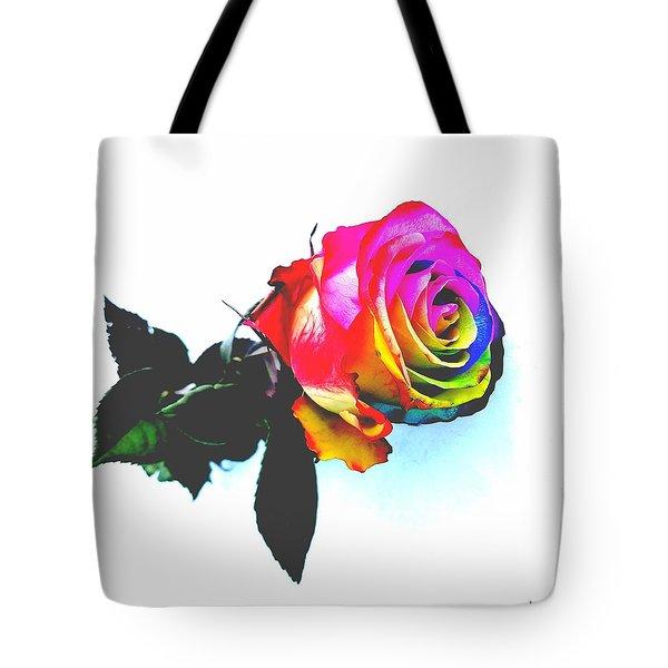 Rainbow Rose 2 Tote Bag