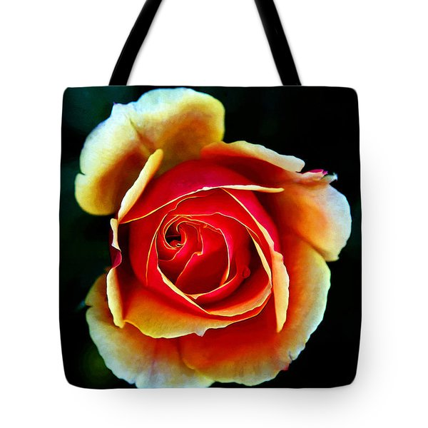 Tote Bag featuring the photograph Rainbow Rose by John Haldane