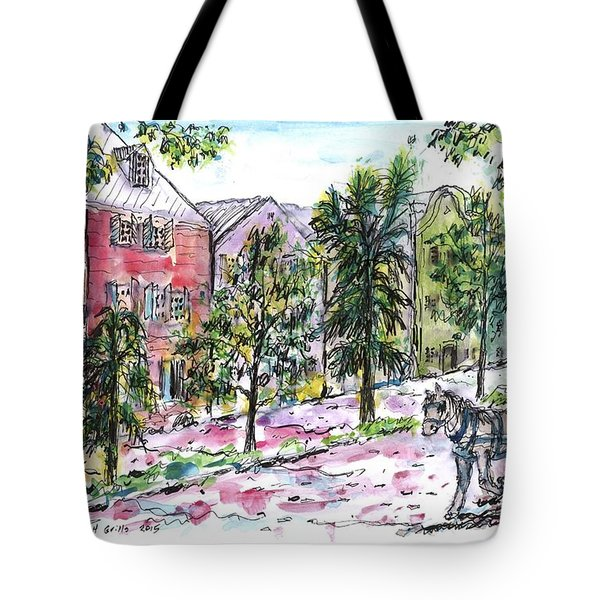 Rainbow Row Tote Bag