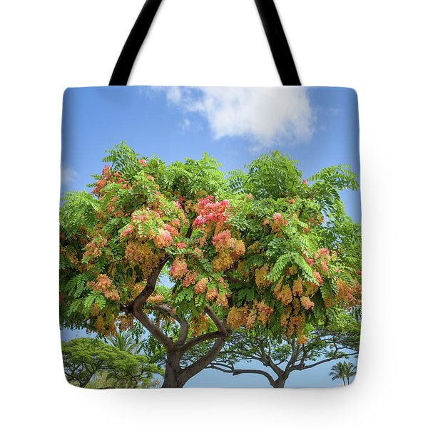 Tote Bag featuring the photograph Rainbow Shower Tree 1 by Jim Thompson