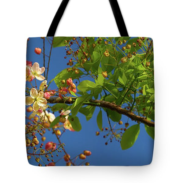 Rainbow Shower Tree Tote Bag