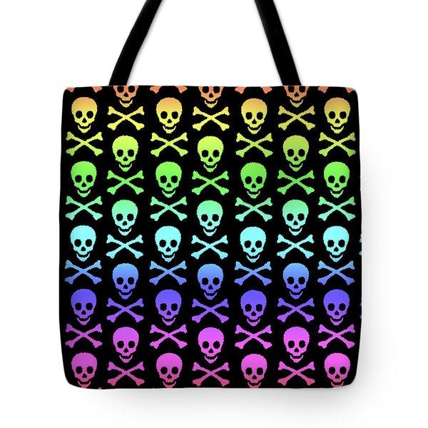 Rainbow Skull And Crossbones Tote Bag