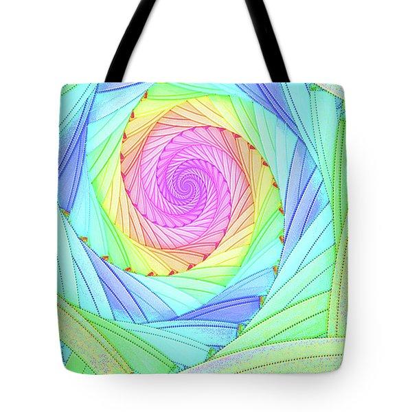 Rainbow Spiral Tote Bag