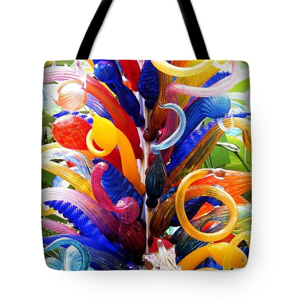 Rainbow Spirals Tote Bag