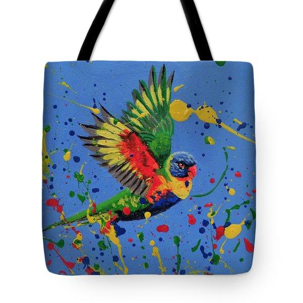 Rainbow Splash Tote Bag