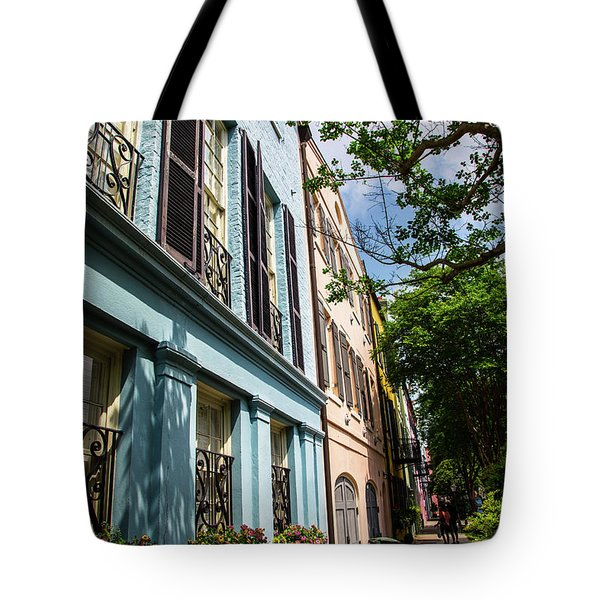 Tote Bag featuring the photograph Rainbow Street by Karol Livote