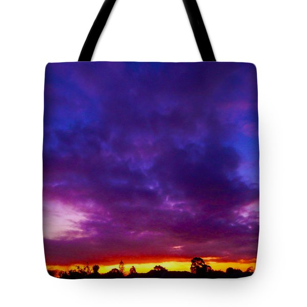 Rainbow Sunset Tote Bag by Mark Blauhoefer