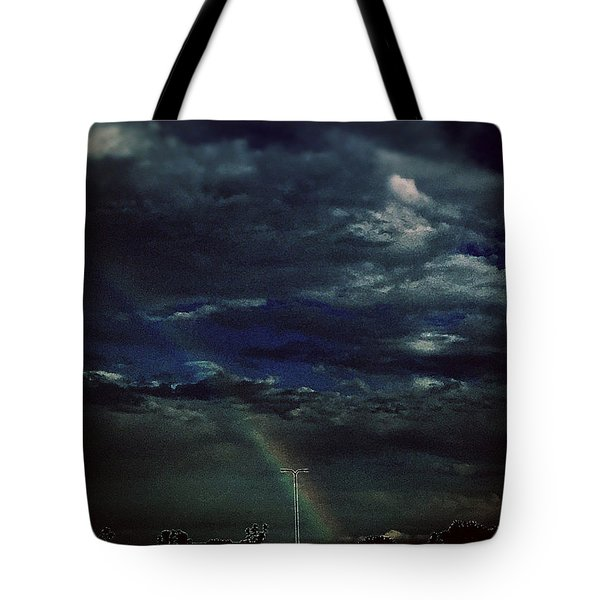 Rainbow Through The Storm  Tote Bag