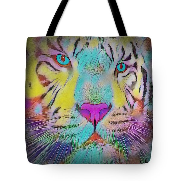 Rainbow Tiger Tote Bag